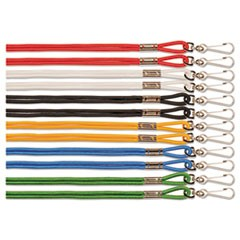 "Lanyard, J-Hook Style, 22"" Long, Assorted Colors, 12/Pack"