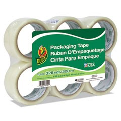"Commercial Grade Packaging Tape, 2"" x 22, 1.88"" x 55 yds, Clear, 3"" Core, 6/Pack"