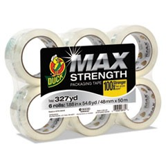 "MAX Packaging Tape, 1.88"" x 54.6 yds, 3"" Core, Crystal Clear, 6/Pack"