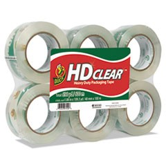 "Heavy-Duty Carton Packaging Tape, 1.88"" x 110 yards, Clear, 6/Pack"