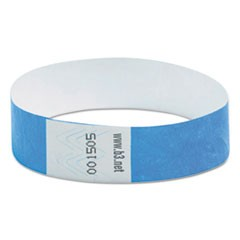 "Wristpass Security Wristbands, 3/4"" x 10"", Blue, 100/Pack"