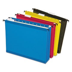 Hanging Pocket Files, 3 1/2 Inch Expansion, Letter, Assorted, 4 per pack