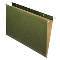 Hanging File Folders, No Tabs, Legal, Standard Green, 25/Box
