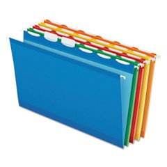 Colored Reinforced Hanging Folders, 1/6 Tab, Legal, Asst, 25/Box