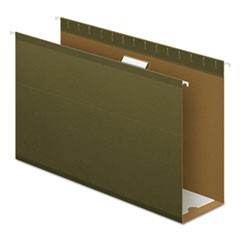 "Reinforced 4"" Extra Capacity Hanging Folders, Legal, Standard Green, 25/Box"