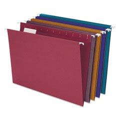 Earthwise by Pendaflex EZ Slide Hanging File Folder, 1/5 Cut, Ltr,  Asstd, 20/BX
