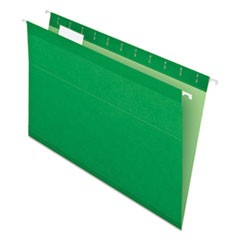 Reinforced Hanging Folders, 1/5 Tab, Legal, Bright Green, 25/Box