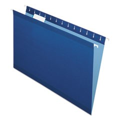 Reinforced Hanging Folders, 1/5 Tab, Legal, Navy, 25/Box