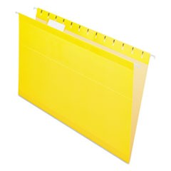 Reinforced Hanging Folders, 1/5 Tab, Legal, Yellow, 25/Box