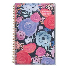 Academic Planners, 8 x 4 7/8, Midnight Rose, 2018-2019