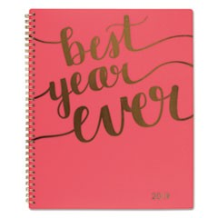 Aspire Weekly/Monthly Planner, 8 1/2 x 11, Coral, 2019