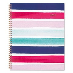 Carousel Stripe Weekly/Monthly Planners, 8 1/2 x 11, Navy/Pink, 2019