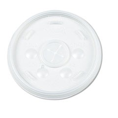 Plastic Lids, Straw Slot, Fits 32oz Hot/Cold Foam Cups, White, 500/Carton
