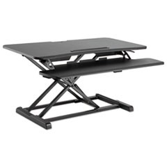 "AdaptivErgo Sit-Stand Workstation, 37 3/8"" x 26 1/8"" x 19 7/8"", Black"