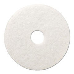 "Polishing Floor Pads, 14"" Diameter, White, 5/Carton"