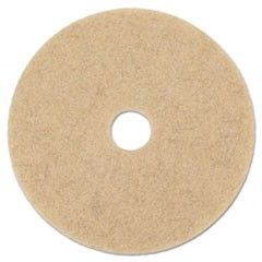 "Natural Hog Hair Burnishing Floor Pads, 17"" Diameter, 5/Carton"
