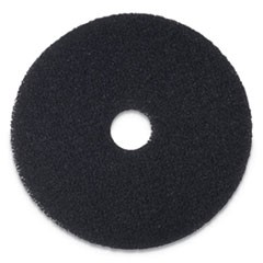 "Stripping Floor Pads, 12"" Diameter, Black, 5/Carton"