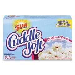 Cuddle Soft Fabric Softener Sheets, Fresh, 100/Box, 6 Boxes/Carton