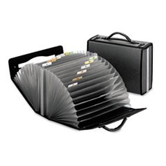 26-Pocket Document Carrying Case, 4 5/8 x 13 1/8 x 10 1/4, Smoke
