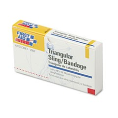 "First-Aid Refill Sling/Tourniquet Triangular Bandages, 40"" x 40"" x 56"", 10/Pack"