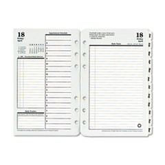 Original Dated Daily Planner Refill, January-December, 4 1/4 x 6 3/4, 2017
