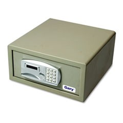 Large Personal Safe, 1.2 capacity, 15 3/4w x 16 5/8d x 7 9/16h, Light Gray
