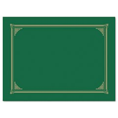 Certificate/Document Cover, 12 1/2 x 9 3/4, Green, 6/Pack