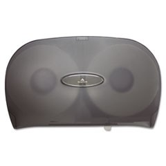 Jumbo Jr. Two-Roll Bathroom Tissue Dispenser, 20 1/50 x5 2/5 x 12 1/4, Smoke
