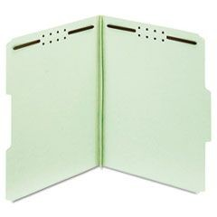 "Earthwise Heavy-Duty Pressboard Folders, 1/3 Cut, Letter, Green, 1"" Exp., 25/Box"