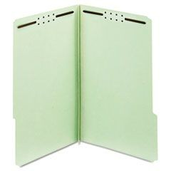 "Earthwise Heavy-Duty Pressboard Folders, 1/3 Tab, Legal, Green, 3"": Exp., 25/Box"