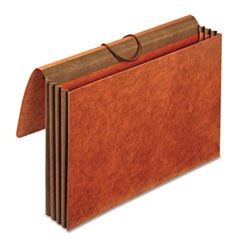 Heavy-Duty Expanding Wallets, Straight Cut, 1 Pocket, Legal, Brown