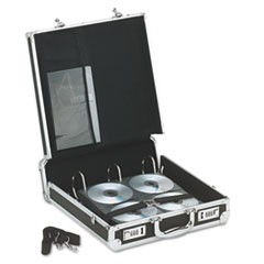 Locking Media Binder, Holds 200 Discs, Black