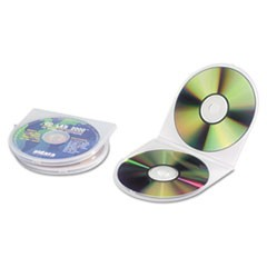 CD/DVD Shell Case, Clear, 25/Pack