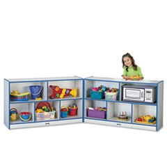 Rainbow Accents Fold-n-Lock Storage Unit, 48w x 15d x 29-1/2h, Blue/Gray