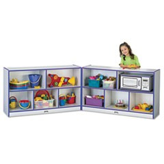 Rainbow Accents Fold-n-Lock Storage Unit, 48w x 15d x 29-1/2h, Purple/Gray