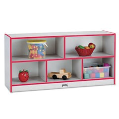 Rainbow Accents Single Storage Units, 48w x 15d x 24-1/2h, Red/Freckled Gray