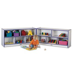 Rainbow Accents Fold-n-Lock Storage Unit, 48w x 15d x 24-1/2h, Purple/Gray