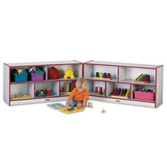 Rainbow Accents Fold-n-Lock Storage Unit, 48w x 15d x 24-1/2h, Red/Gray