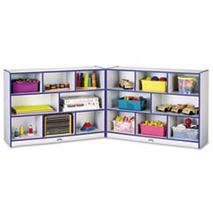 Rainbow Accents Fold-n-Lock Storage Unit, 48w x 15d x 35-1/2h, Blue/Gray