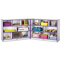 Rainbow Accents Fold-n-Lock Storage Unit, 48w x 15d x 35-1/2h, Purple/Gray