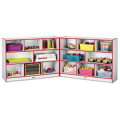 Rainbow Accents Fold-n-Lock Storage Unit, 48w x 15d x 35-1/2h, Red/Gray