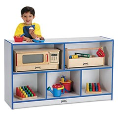 Rainbow Accents Single Storage Units, 48w x 15d x 29-1/2h, Blue/Freckled Gray