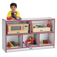 Rainbow Accents Single Storage Units, 48w x 15d x 29-1/2h, Red/Freckled Gray
