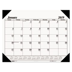 Recycled One-Color Refillable Monthly Desk Pad Calendar, 22 x 17, 2018