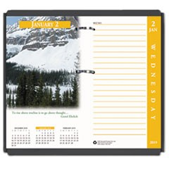 Earthscapes Desk Calendar Refill, 31/2 x 6, 2019