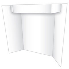 Too Cool Tri-Fold Poster Board, 24 x 36, White/White