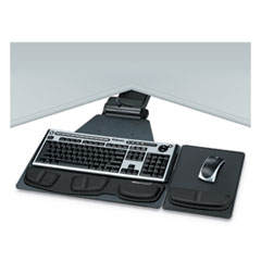 Professional Corner Executive Keyboard Tray, 19w x 14-3/4d, Black