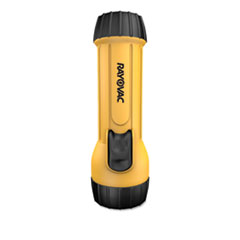 Industrial Tough Flashlight, Krypton Bulb, Yellow/Black