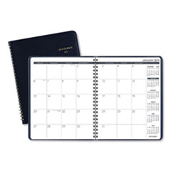 Monthly Planner, 6 7/8 x 8 3/4, Navy, 2019