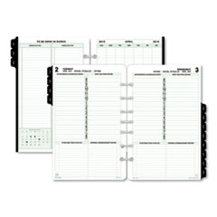 Dated One-Page-per-Day Organizer Refill, January-December, 5 1/2 x 8 1/2, 2019